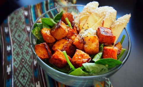 Butternut Squash with Coconut, Cinnamon and Honey