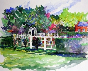 Missouri Botanical Gardens | Joe McCauley painting