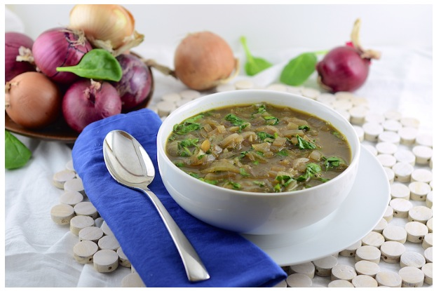 spinach onion soup