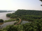 Mississippi from the bluff @ Effigy Mounds National Monument
