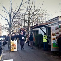 Stalls at a local Food Pod