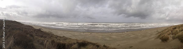 The sea was angry yesterday