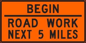 begin road work