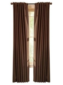 Our new 'thermal crepe' Martha Stewart-ish drapes.