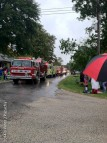 8 different fire trucks in this combined school district parade