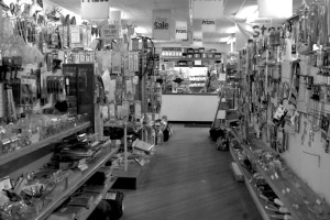 Our hardware store didn't look much different from this.