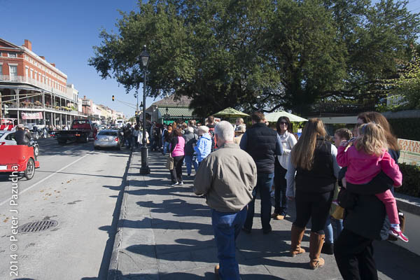 The Beignet line was longer today than yesterday