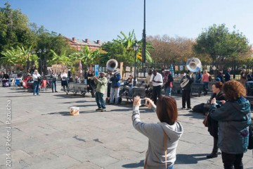 People photographing musicians