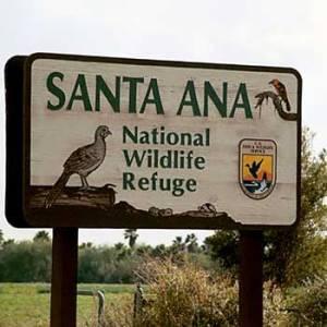 Santa Ana NWR sign