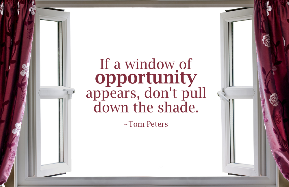Windows of opportunity life unscripted for Window quotes