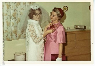 Peg and her mom on our Wedding day