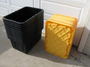 Home Depot storage bins