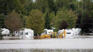 flooded campground