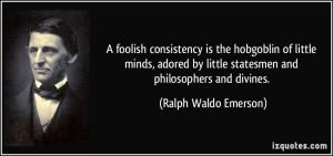 foolish consistency