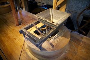 A grain 'hopper' in a grist mill