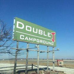 Double J Campground Sign