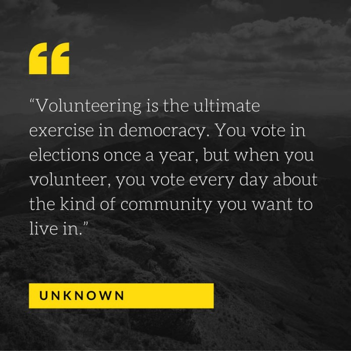 volunteering is the ultimate exercise