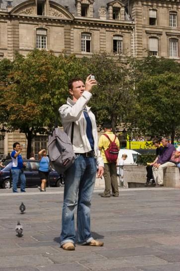 Photos of people taking photos of landmarks