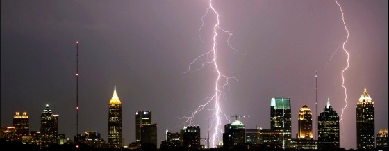 Lightning over Atlanta