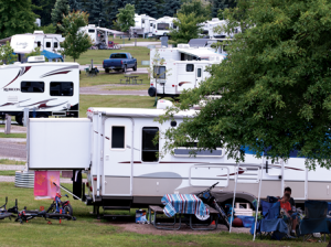 busy campground