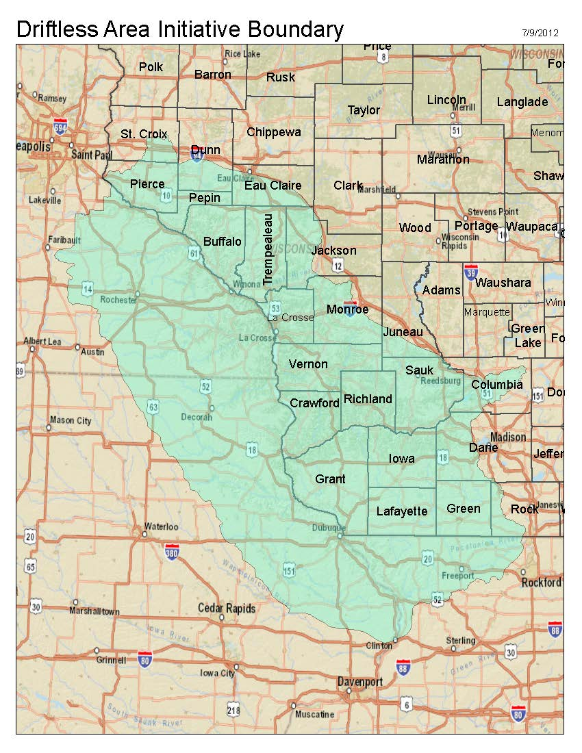 Driftless Area Initiative Map