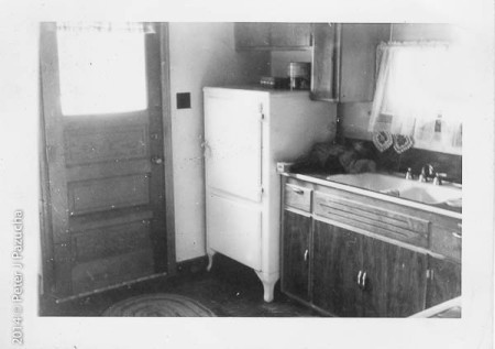 The kitchen in the house where I was born.