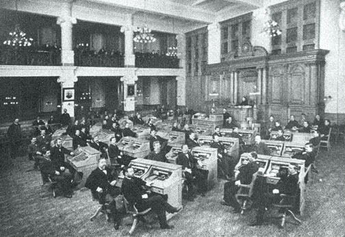 The MIlwaukee Common Council Chambers dated 1898 (Milwaukee had the largest council chamber in the United States at that time.)
