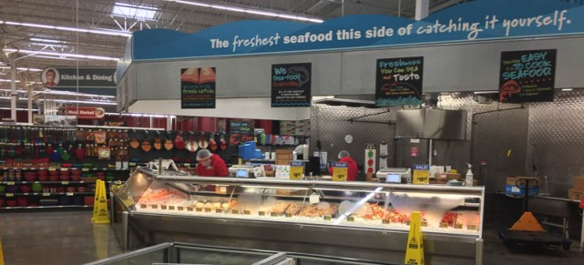 H-E-B seafood counter