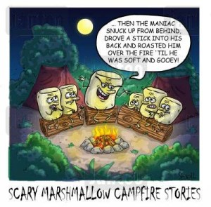 Scary Marshmallow Campfire Stories.