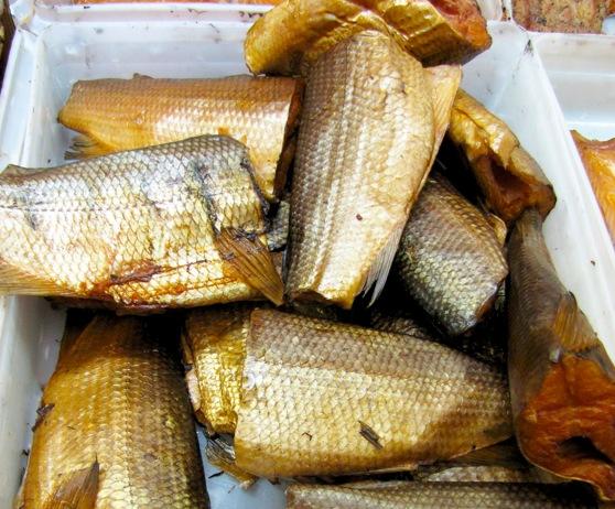 a tub of smoked whitefish