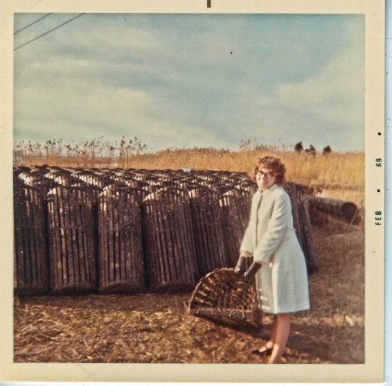 Peggy with a lobster pot
