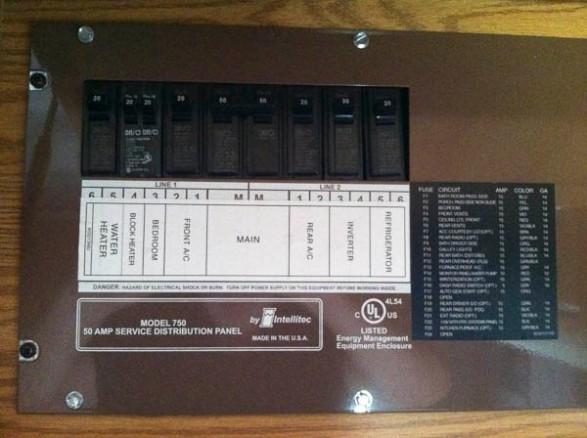 Fuse Panel for 110V system