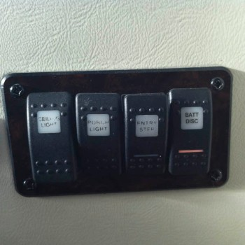 stairwell mounted switches for convenience.