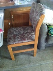 One of four dining room chairs