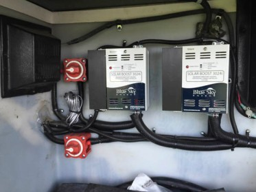 Dual charge controllers for the roof mounted Solar Panels