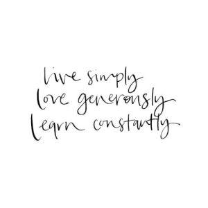 live-simply