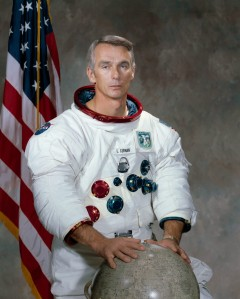 "U.S. astronaut Eugene Cernan, the commander of the final Apollo lunar landing mission in 1972, ""the last man to walk on the moon,"" died at the age of 82 on Jan. 16, 2017. (EPA/NASA)"