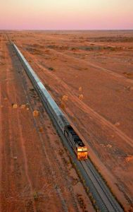 File PHOTO: Great Southern Rail Indian Pacific train journey by helicopter Sydney to Perth