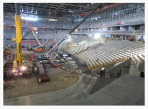 Bucks Stadium Construction