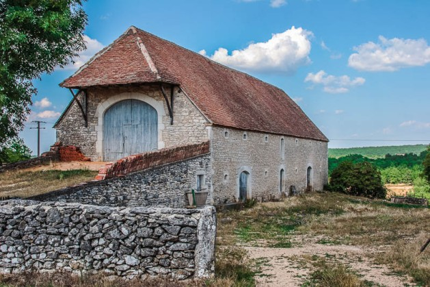 A stone barn in Eastern France