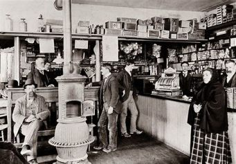 stores were a lot more basic back then.